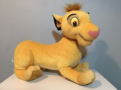 "DISNEY THE LION KING SIMBA 20"" LONG SOFT PLUSH TOY by HASBRO"