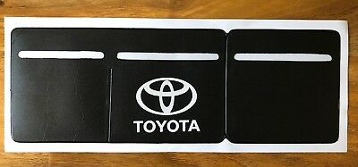 1 x Car Van Road Tax,  Insurance, NCT Disc Holder Black New Wallet for Toyota