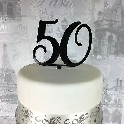 50 Cake Topper birthday number age acrylic. All colours! Glitter 30 40 60 70 80
