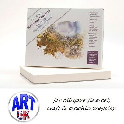 GOLDLINE WATERCOLOUR PAD 100 SHEETS 200gsm 24cm x 32cm COLD PRESSED NOT SURFACE