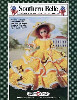 Southern Belle Fibre Craft Crochet Patterns For 15 Fashion Dolls