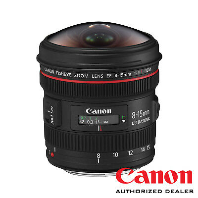 Canon EF 8-15mm f/4L Fisheye USM Lens ***USA AUTHORIZED***