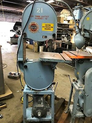 """Rockwell Delta 14"""" Metal and Wood band saw, high gear only"""