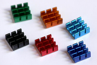 Premium Raspberry Pi RPi Heatsink with Thermal Adhesive Pad 13x13mm - 6 colours