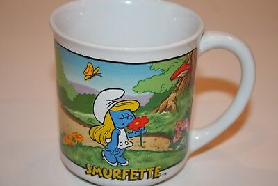 Smurf Ceramic Collectables Mug Smurfette #1597 Wallace Berrie BRAND NEW