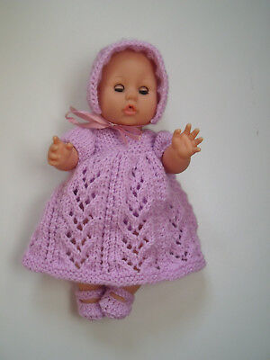 4pce Clematis Hand Knitted  Dolls set 30-32cm 12-13in.