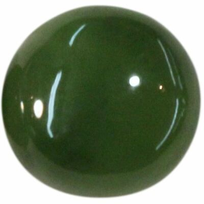 Natural Extra Fine Rich Green Nephrite Jade - Round Cabochon - New Zealand - AAA