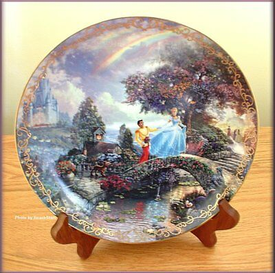 CINDERELLA WISHES UPON A DREAM PLATE by THOMAS KINKADE FREE U.S. SHIPPING