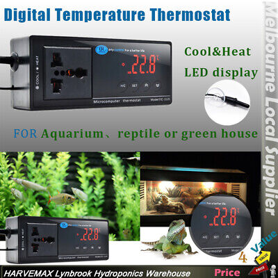 Hydroponics Temperature Fan Controller Thermostat Cooling Heating Thermo Control