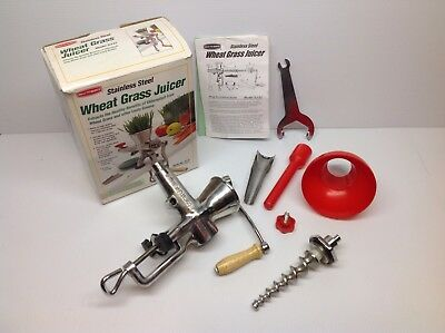 Back To Basics Stainless Steel Wheat Grass Juicer SJ-27