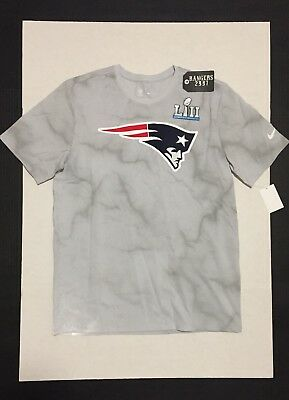 abb75e57f Nike NFL New England Patriots Super Bowl LII Bound T-Shirt Media Night Size  M