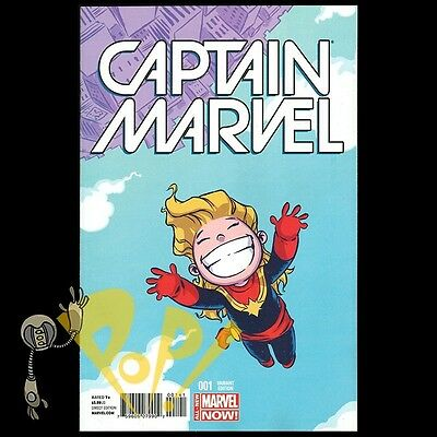 CAPTAIN MARVEL #1 Skottie YOUNG Baby VARIANT Marvel Comics NM First Print!