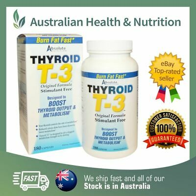 Absolute Nutrition Thyroid T3 - Boost Thyroid Output & Metabolism - High Potency