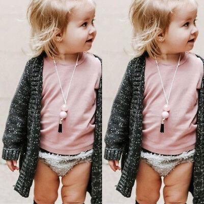 AU Fashion Toddler Kids Baby Girls Cloak Sweaters Knitwear Coat Clothes Outfits