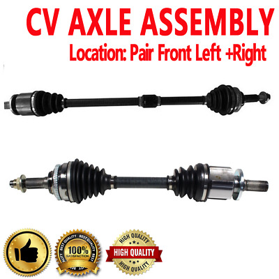 Pair Front CV Axle Drive Shaft For G20 99-02 Automatic Transmission
