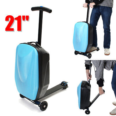 21'' Children Travel Scooter Suitcase Multifunction Luggage Carry On Storage Box