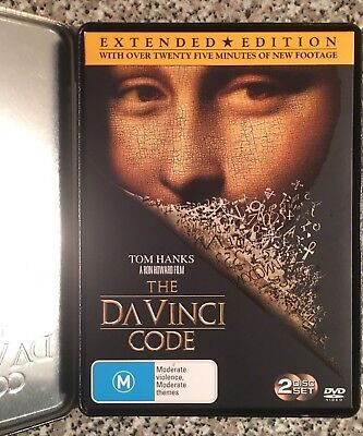 THE DA VINCI CODE Two disc Set Limited Edition Tin (25 minutes extra) DVD