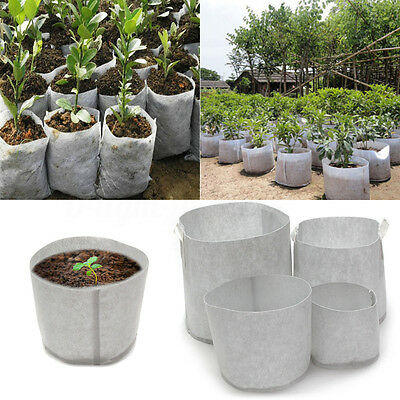 10Pcs Fabric Grow Tree Pots Planter Bags Smart Planter Root Aeration Container