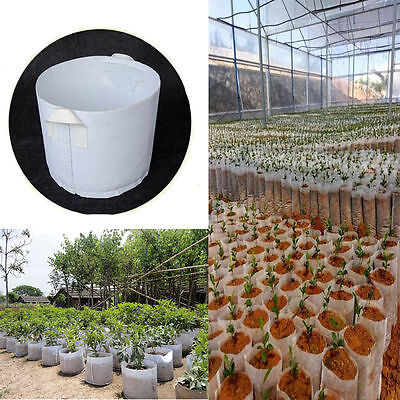 10x Round Fabric Pots Plant Pouch Root Container Grow Bag Aeration Container