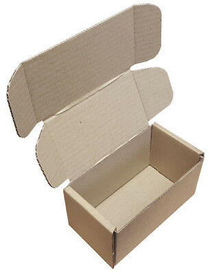 Small Parcel Brown Die Cut Cardboard Postal Mailing Boxes 152mm x 85mm x 85mm