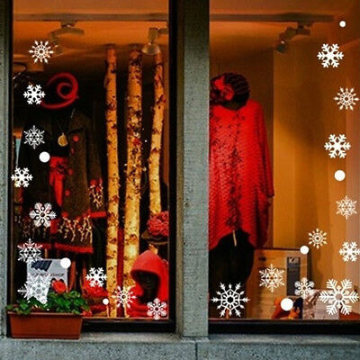 Window Stickers Snowflake Wall Stickers Xmas Wall Decals Home Decoration