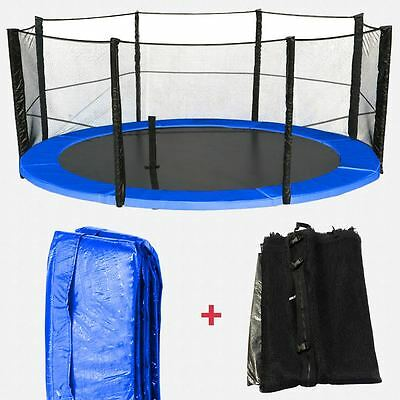 Trampoline Spring Cover Padding & Safety Net Bundle Replacement 6 8 10 12 14 16
