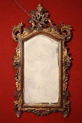 Mirror italian wooden paint lacquered and golden antique style 900 frames