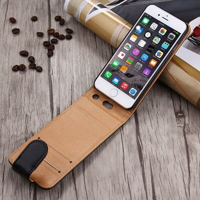 Luxury Premium Executive Wallet Vertical Flip Case Card Holders for iPhone