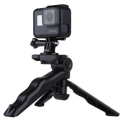 Folding Handheld Grip Tripod Mount with Adapter and Screws for GoPro HERO 5 4 3+