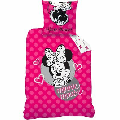 Bettwäsche Set Disney Minnie Maus 135x200 80x80 Linon Minnie Mouse