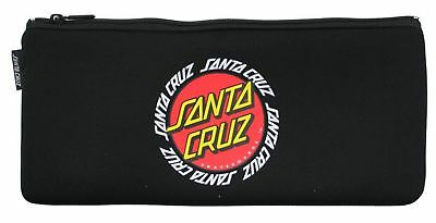 Santa Cruz Ringed Dot Pencil Case in Black
