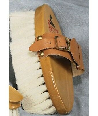 Vale Ultra Plush Goat Hair Body Brush for Horse Grooming Made in England Natural