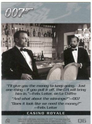 James Bond The Complete Quotable Casino Royale Chase Card Q6