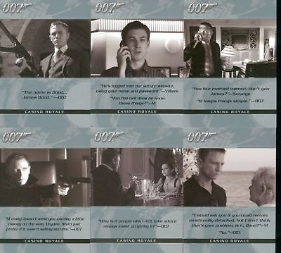 James Bond The Complete Complete Quotable Casino Royale Chase Card Set Q1-6