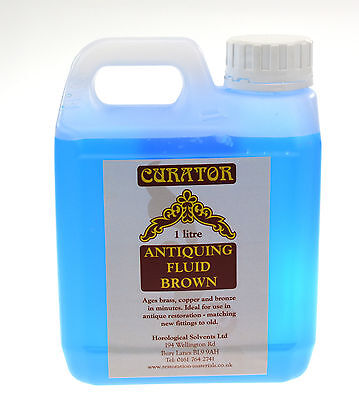 1 Ltr Curator Bronze Antiquing Patination Fluid Solution