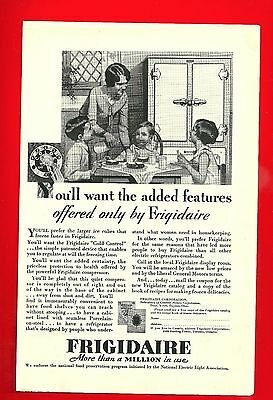 1929 Ad For Frigidaire Refrigerator With Ad For Steamship Tour On Back