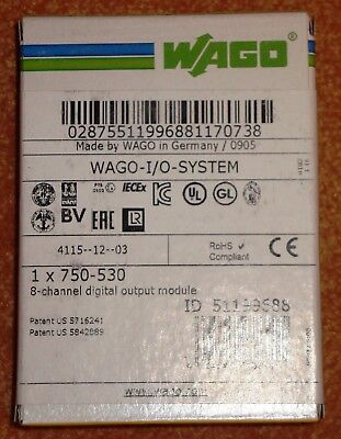 Wago 8 Channel Digital output module 750-530 Neu & OVP