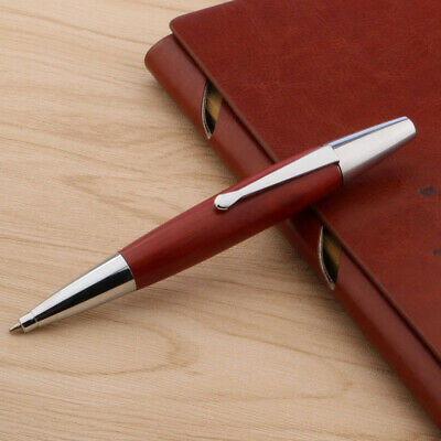 office Hot Sale Red Wooden gift silver Ballpoint Pen