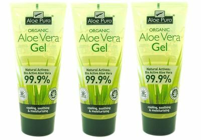 Aloe Pura Aloe Vera Organic Gel Stretch Marks Scars Burn 200ml Free P&P Offer