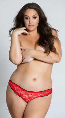 2389cc6799f6 WOMENS YANDY PLUS Size All Over Lace Thong, Plus Size Lace Thong ...