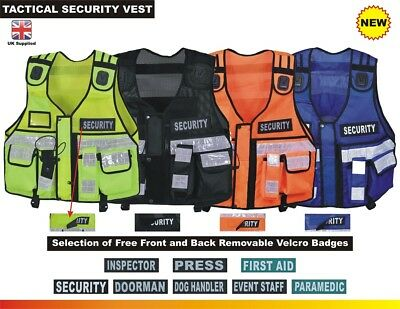 Hi Viz Tactical Vest Security, Enforcement, CCTV, Dog Handler Tac Vest