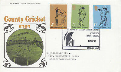 (08550) GB FDC County Cricket LORDS GROUND SHS London 16 May 1973