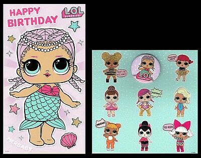 LOL SURPRISE ~ OFFICIAL BIRTHDAY CARD or Wrapping Paper ~ Suprise Genuine - L@@K