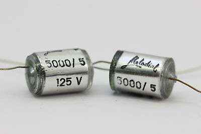 STYROFLEX CAPACITOR MELODIAL 5000pF 125V 5% NOS(New Old Stock) 3PC.CA47U585F3105