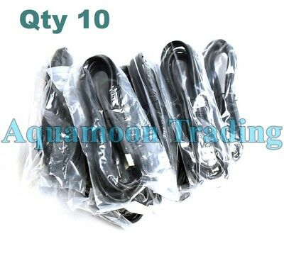 10 LOT New USB 2.0 High Speed Printer 6 FT Cables USB-A to USB-B M/M Black Cord