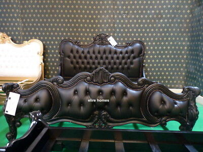 6 foot Super King Chatelet® Gothic Black  French designer chesterfield style bed
