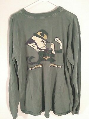 Fighting Irish Notre Dame Long Sleeve Adidas Green Men S T Shirt Xl