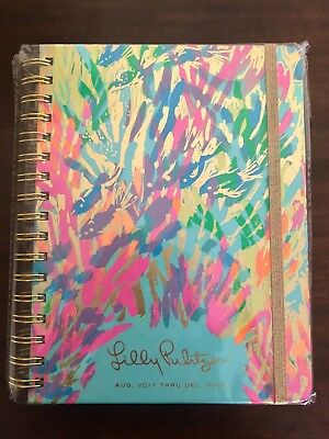 NEW Lilly Pulitzer 2018 Monthly Planner/Calendar - Sparkling Sands