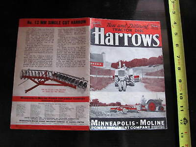 Minneapolis Moline Tractor Disc Harrows Brochure