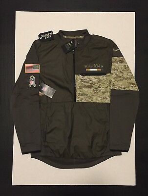 outlet store sale 8c3ab c4bed NIKE NFL BALTIMORE Ravens Salute to Service Hybrid Jacket 2017 STS Mens  Size M